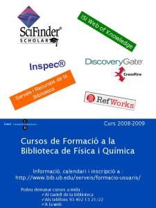 Cartel dels cursos de formació