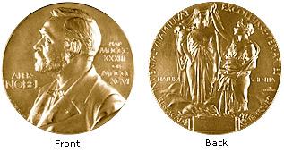 medalla corresponent als premis nobel de FÍsica i de Química