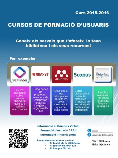 Cursos de Formació d'Usuaris 2015-16